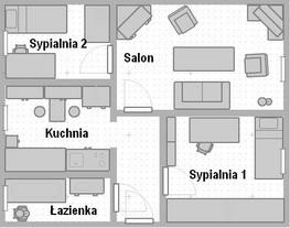 Mieszkanie 55 m2 3 pok. do wynaj